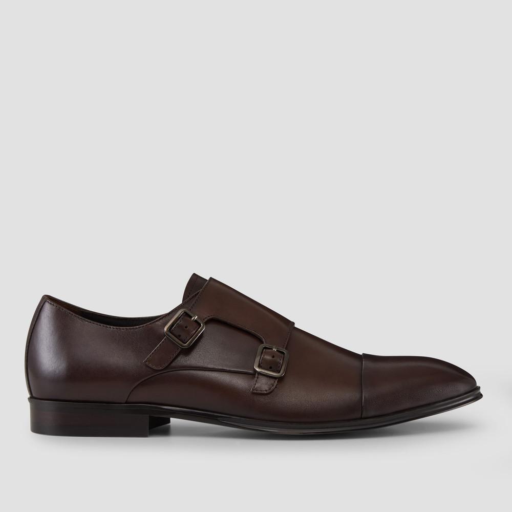 Batley Brown Monk Strap Shoes