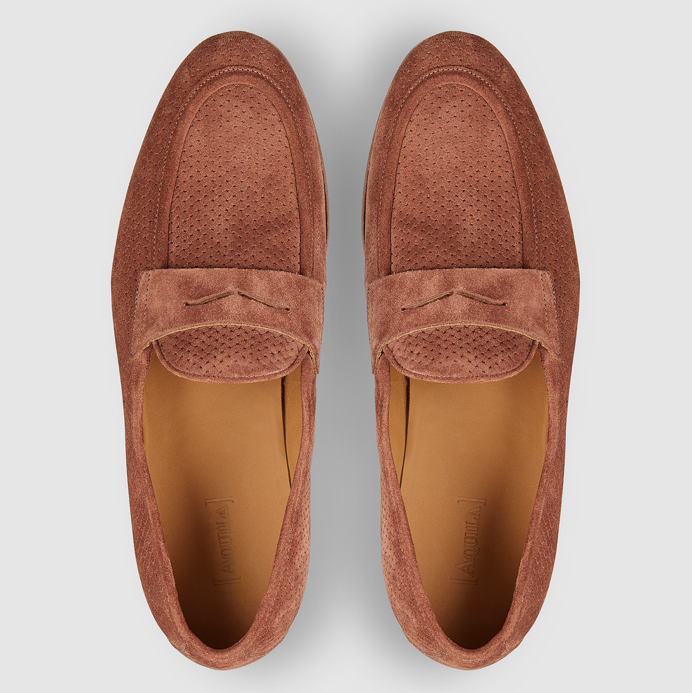 Lawry Rust Penny Loafers