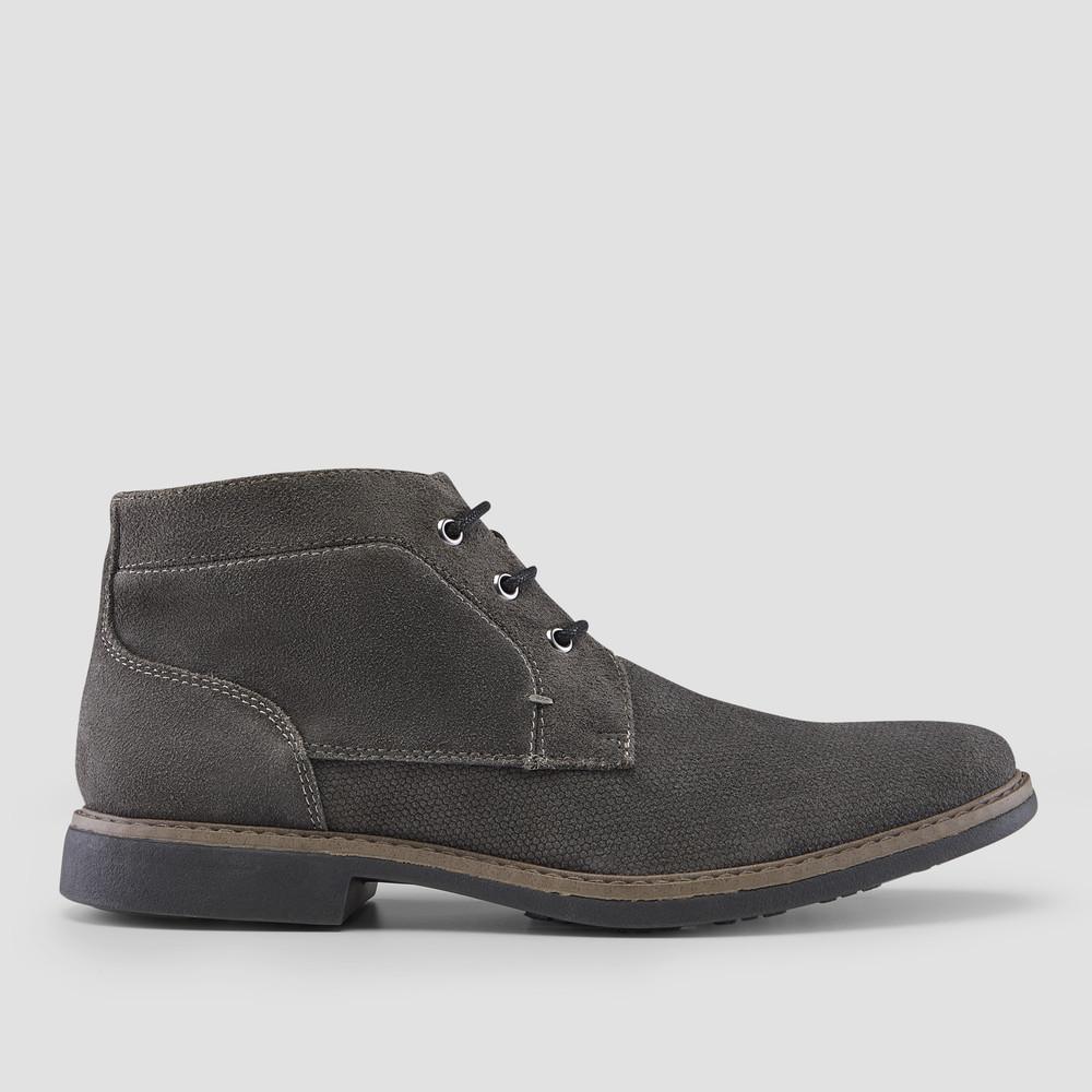 Ovie Dark Grey Desert Boots