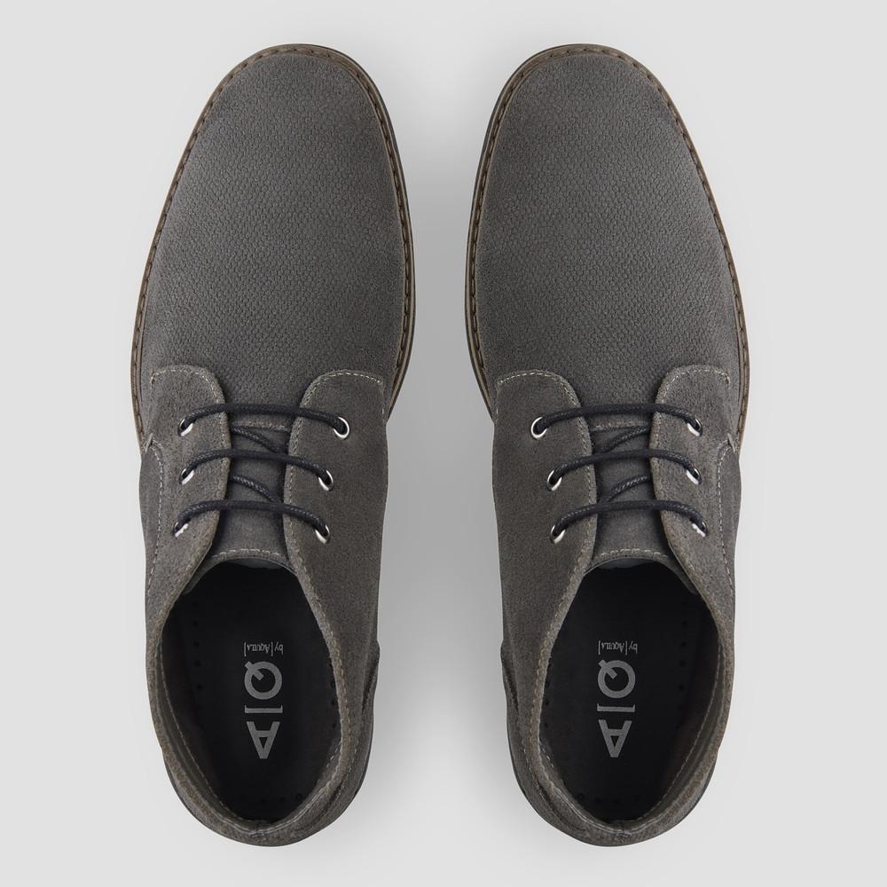Ovie Dark Grey Desert Boots - Aquila