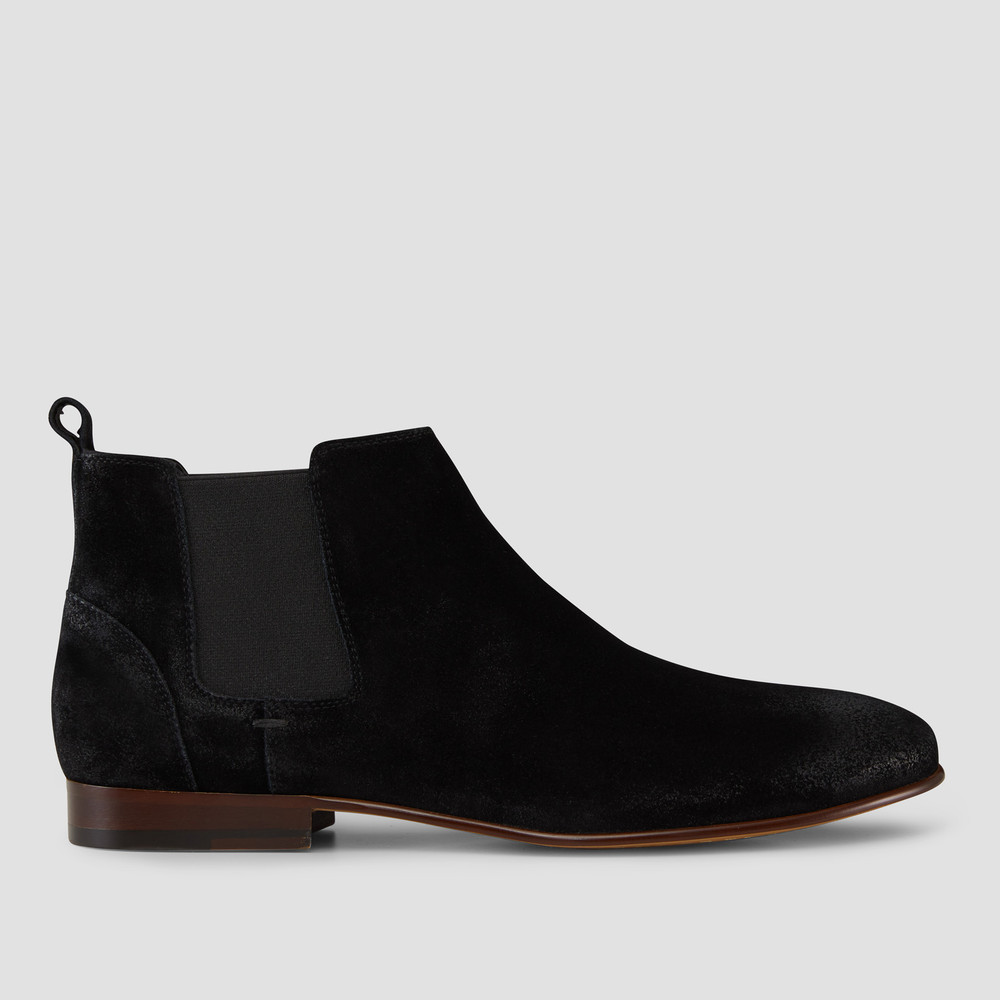 Marty Black Suede Chelsea Boots - Aquila