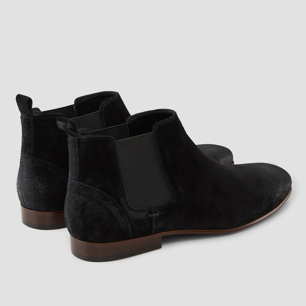 Marty Black Suede Chelsea Boots