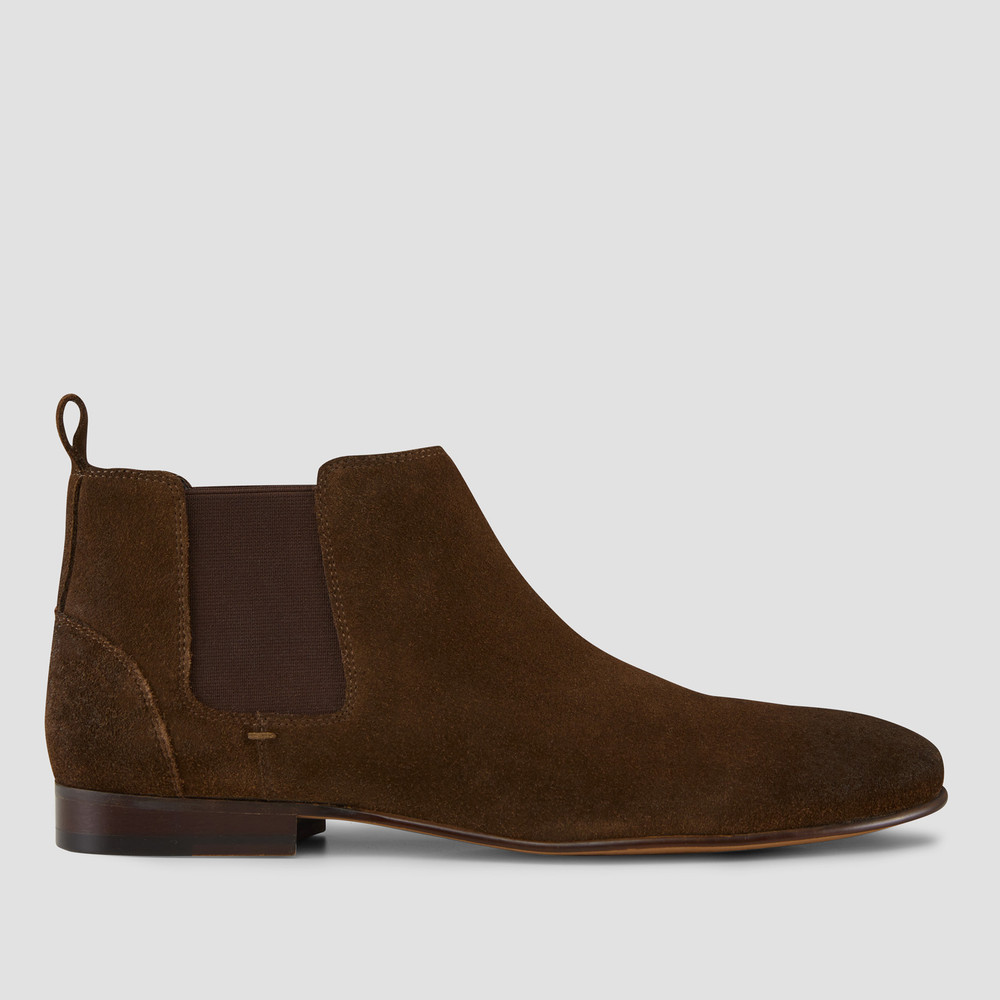 Marty Khaki Suede Chelsea Boots