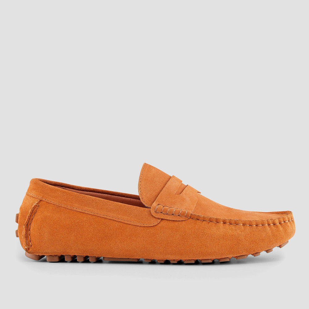 Lennie Orange Driving Shoes