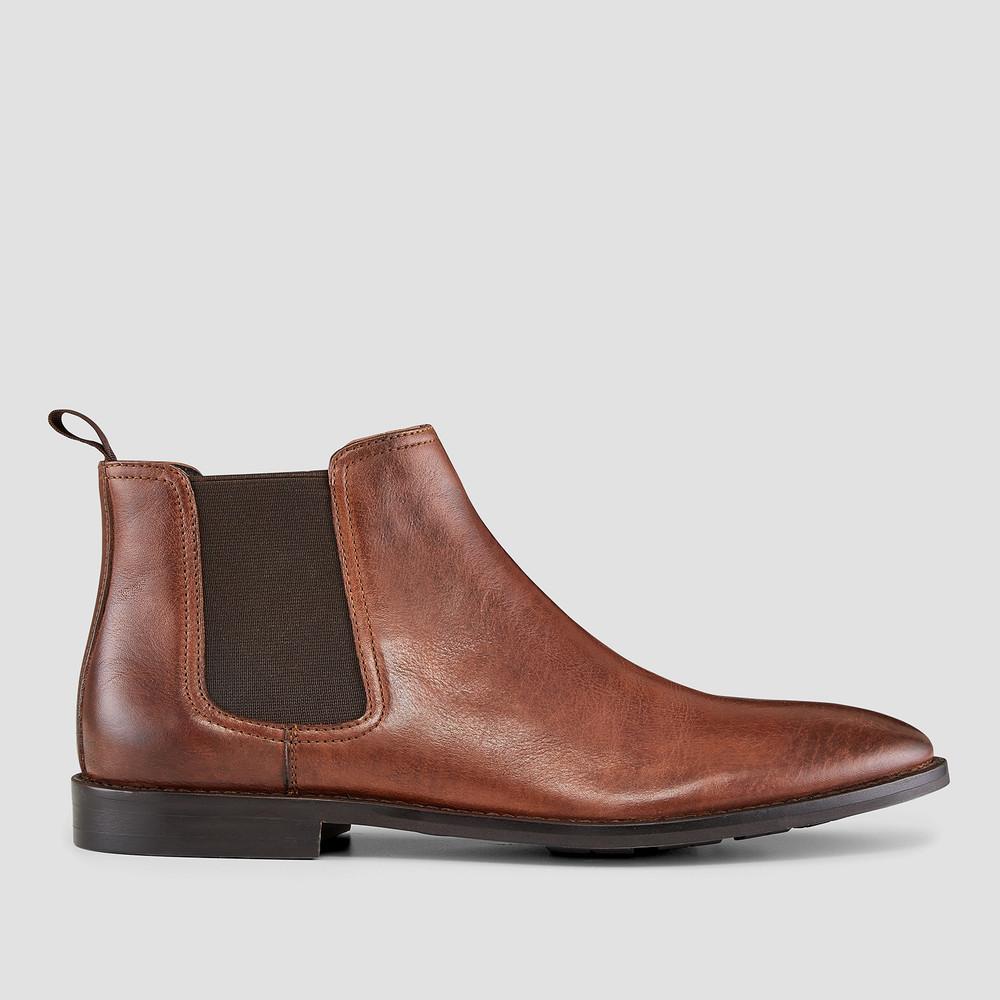 Quintana Cognac Chelsea Boots