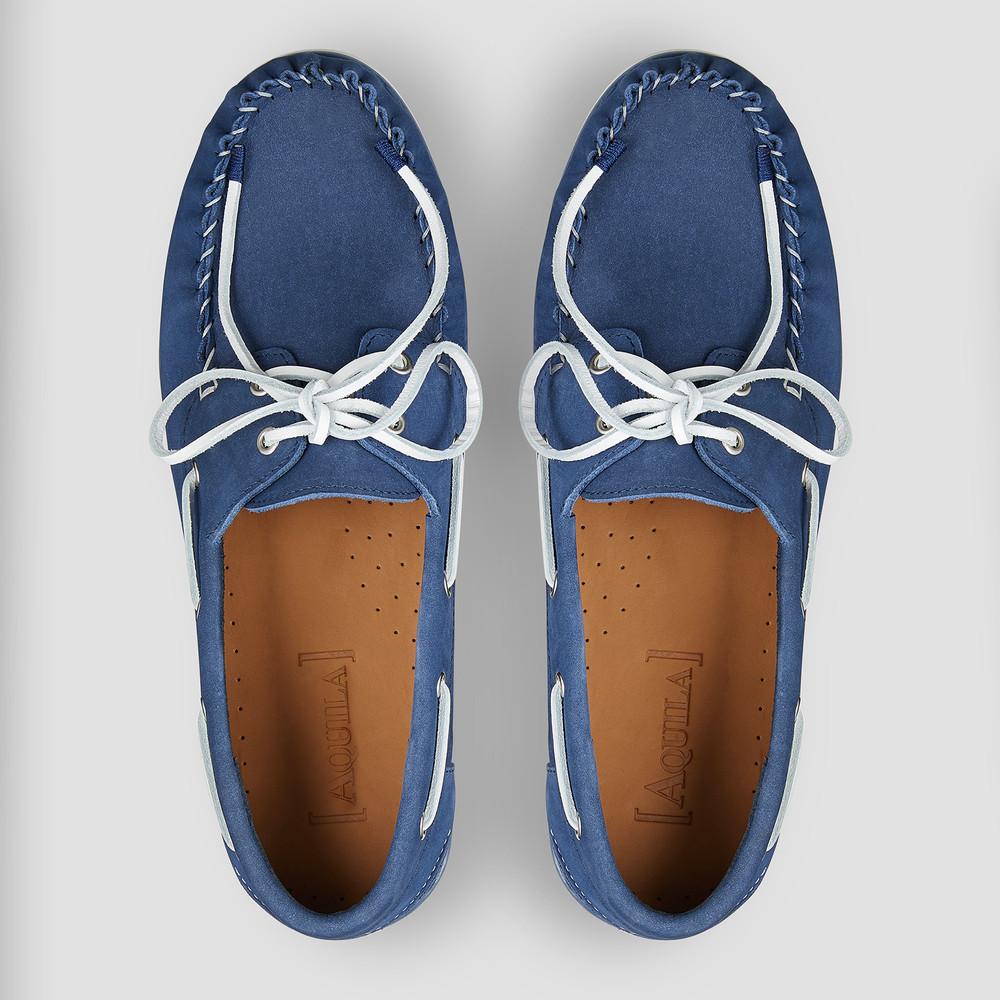 Regis Navy Boat Shoes