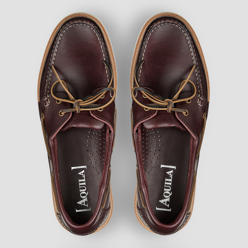 Vermont Burgundy Boat Shoes