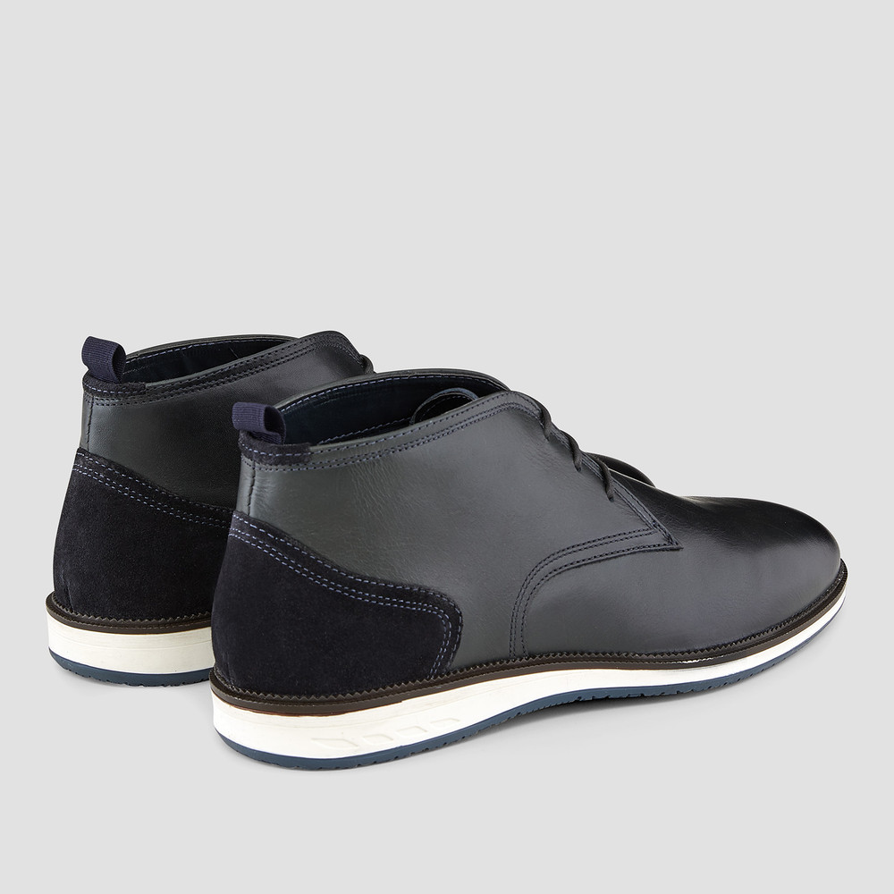 Rose Dark Navy Ankle Boots