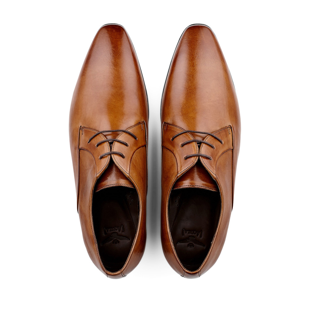 Romwell Tan Lace Up Shoes