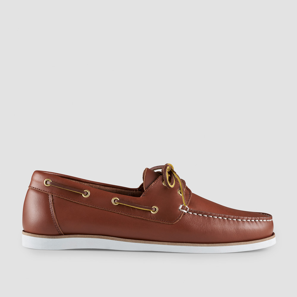Helm Tan Boat Shoes