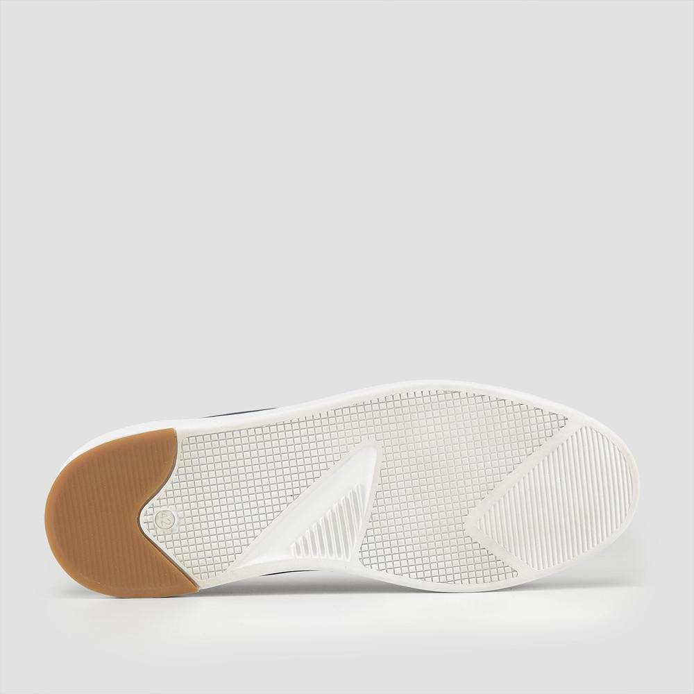 Balmain Navy Slip On Shoes