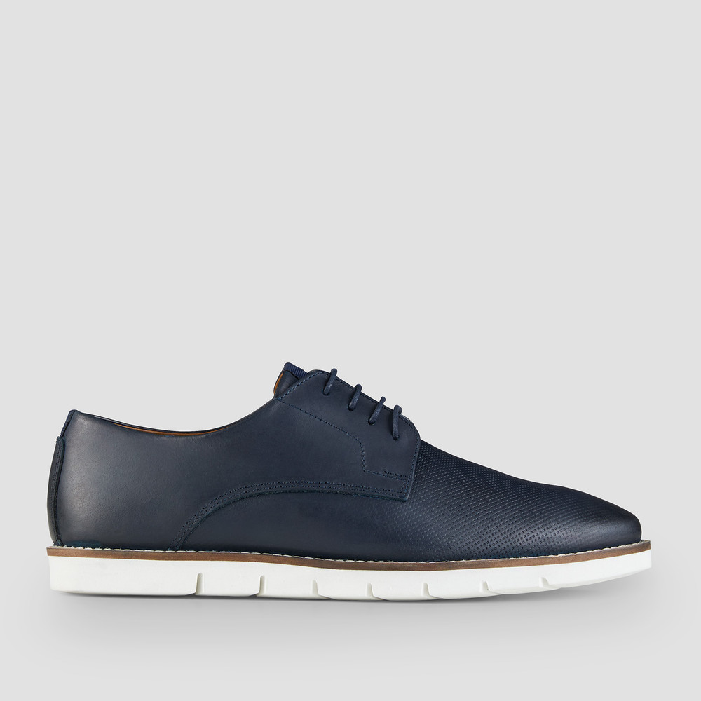 Heaton Navy Lace Up Shoes