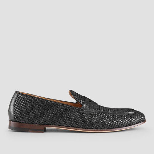 Damiano Black Penny Loafers