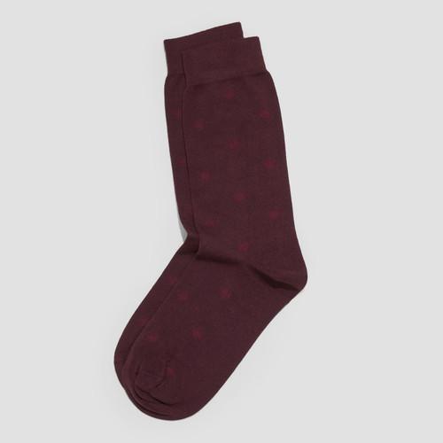 Johnnie Burgundy Socks