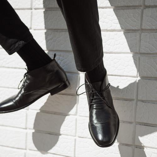 Delmore Black Ankle Boots