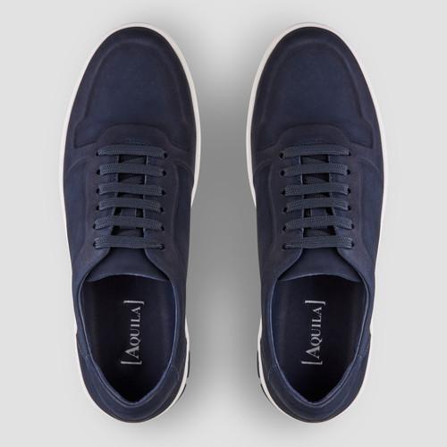 Zaniolo Nubuck Navy Sneakers