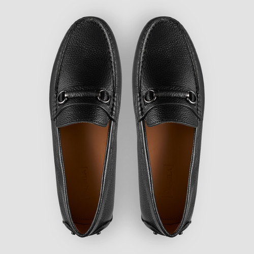 Maranello Black Driving Shoes