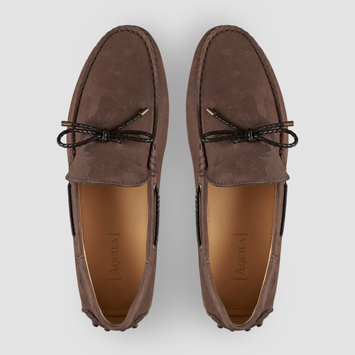 Fiorano Brown Driving Shoes