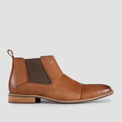 Ortiz Tan Chelsea Boots