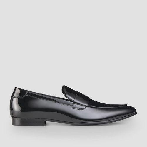 Prince Black Penny Loafers