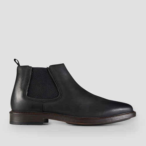 Holyfield Black Chelsea Boots