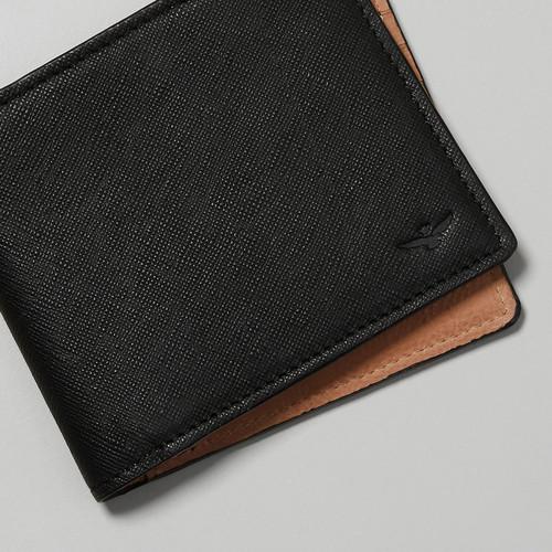 Cavani Black Bi Fold Wallet