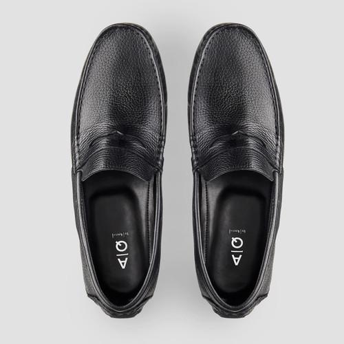 Hewitt Black Driving Shoes