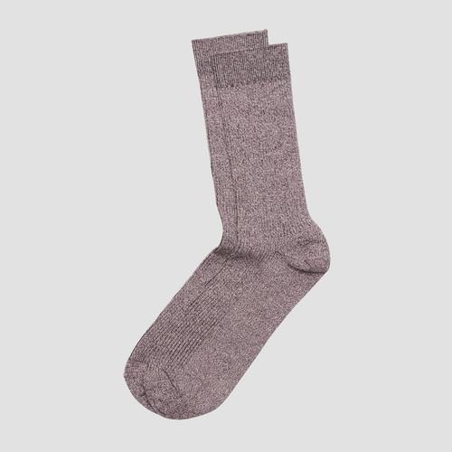 Zan Burgundy Marle Sock