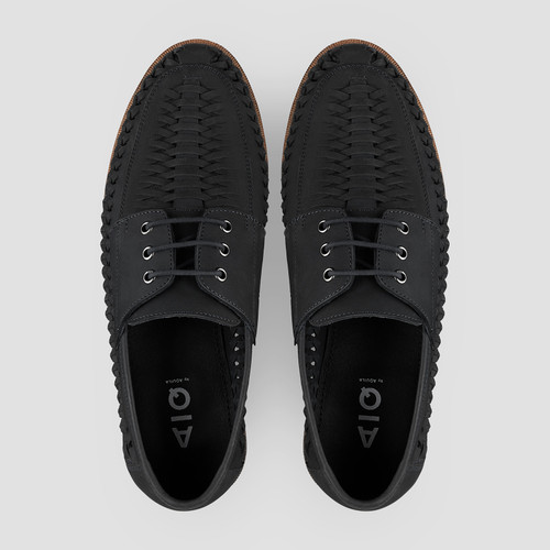 Rowan Nubuck Black Casual Shoes