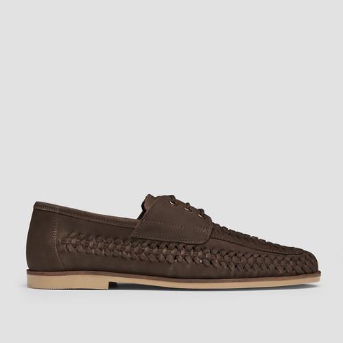 Rowan Nubuck Brown Casual Shoes