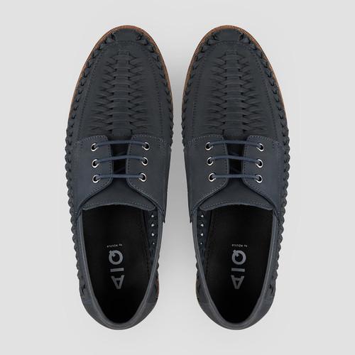 Rowan Nubuck Navy Casual Shoes