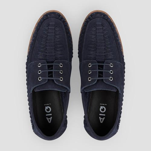 Rowan Suede Navy Casual Shoes