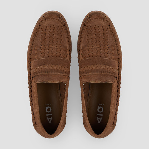 Trey Suede Tan Slip On Shoes