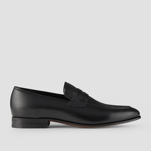 Hadden Black Penny Loafers
