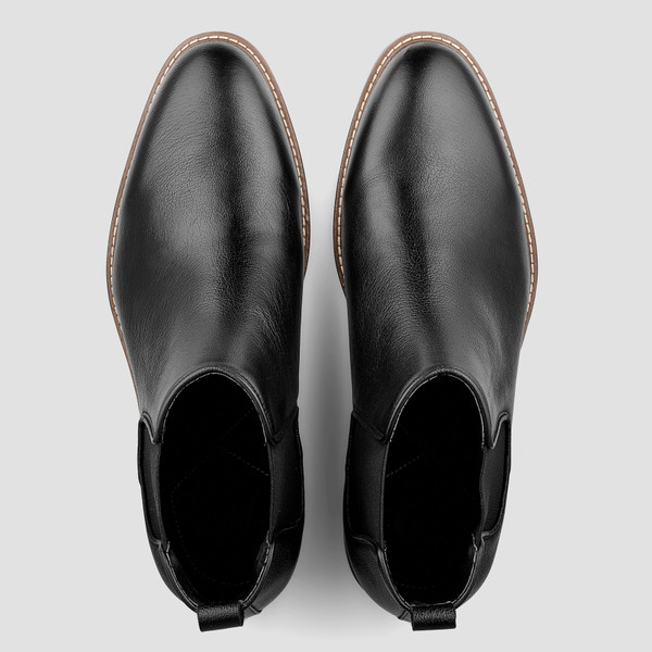 Lucca Black Chelsea Boots