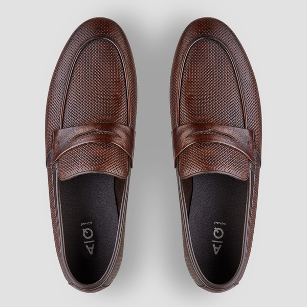 Cavarra Tan Penny Loafers