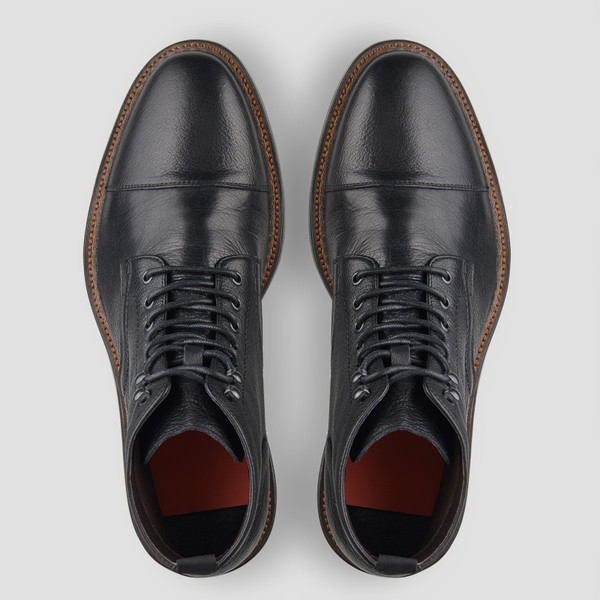 Dunston Black Military Boots