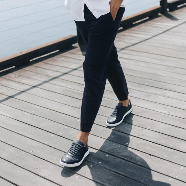 Zaniolo Navy Sneakers
