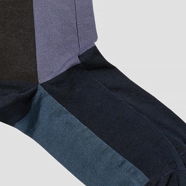 Oliver Navy/ Burgundy Grid Socks