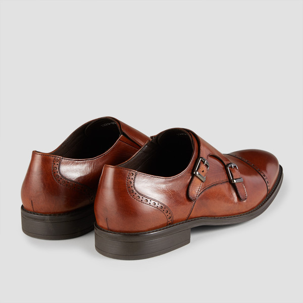 Dwayne Tan Monk Strap Shoes