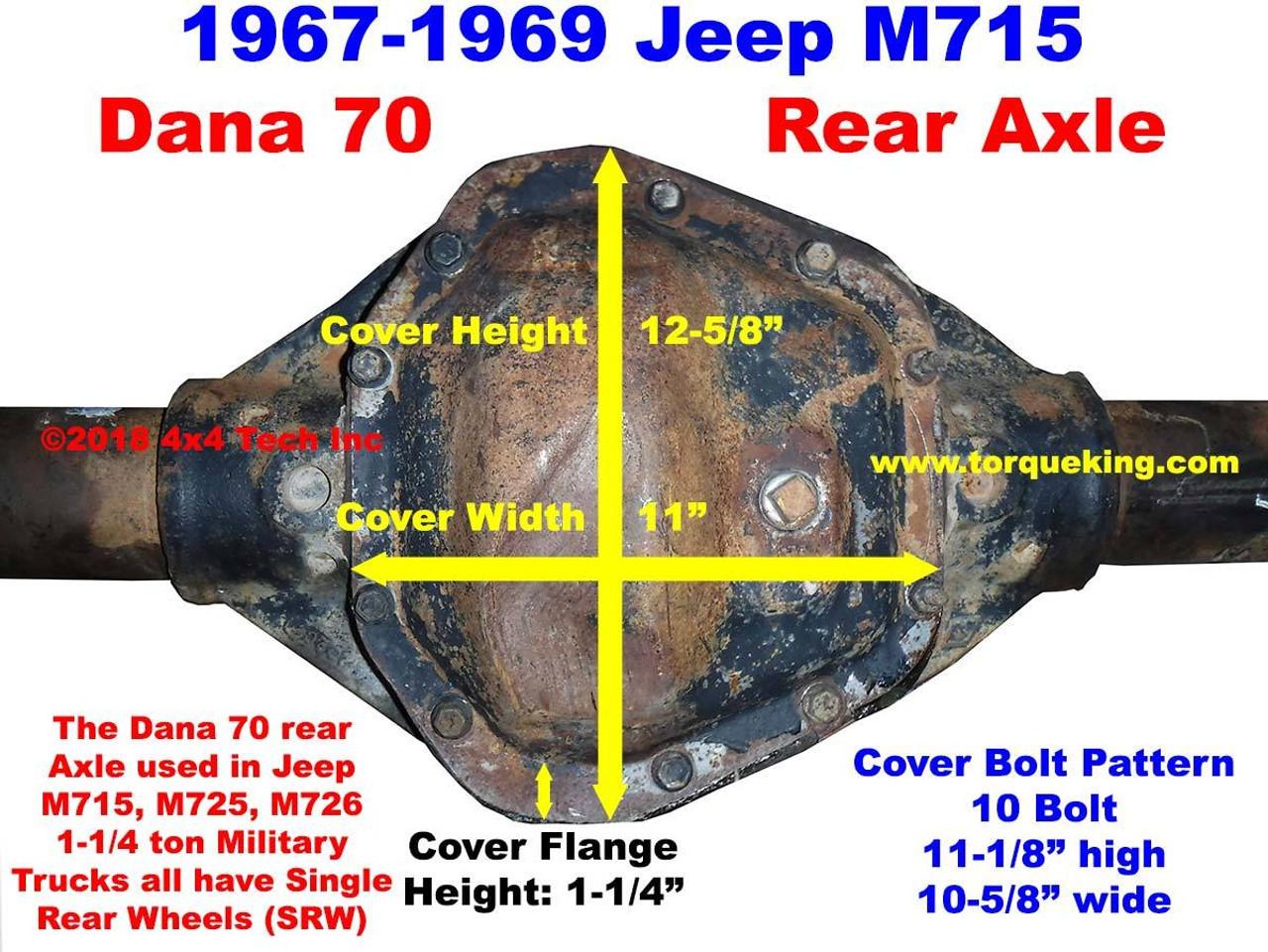 Dana 70 Parts Manuals 1967 1969 Jeep M715 Rear Axle Schematic