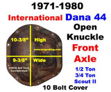 Parts, Tools, Info 1972-1980 IHC Scout II