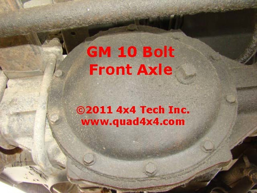 Axle Identification for 1977-1991 GM 10 Bolt Front Axle