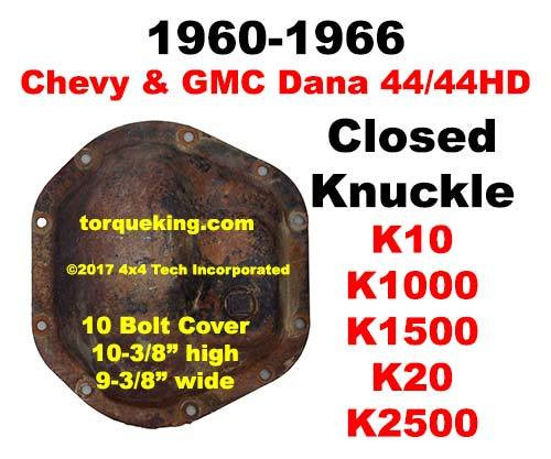 Parts, Tools, Info 1960-66 GM Dana 44 Closed Knuckle Front Axle