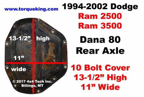 Axle Identification for 1994-2002 Dodge Ram 2500, Ram 3500