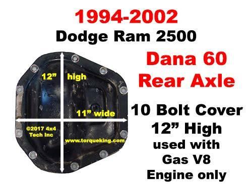 Dana 60 Axle Identification for 1994-2002 Dodge Ram Rear Axle