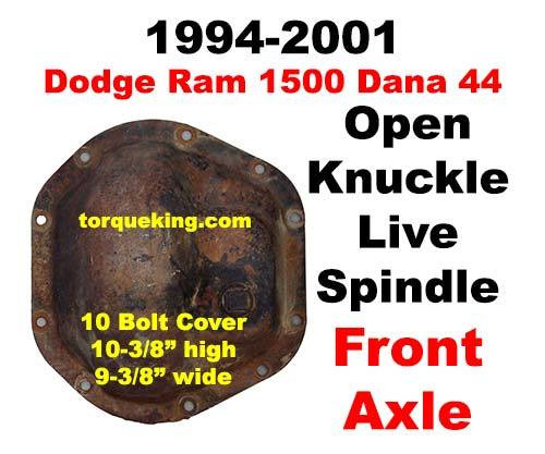 Dana 44 Axle Identification 1994-2001 Dodge Ram 1500 Front Axle