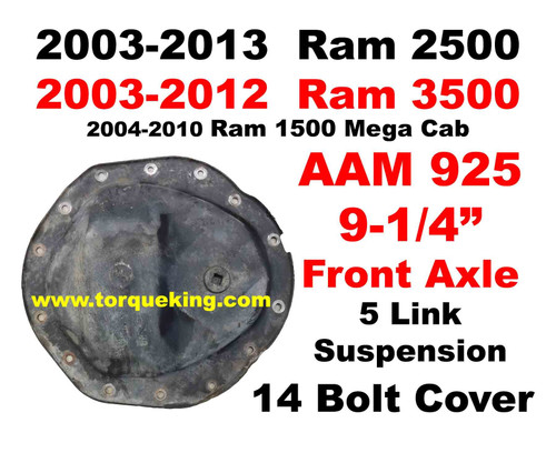 Parts Tools Info For 2003 2013 Ram AAM 925 Front Axle