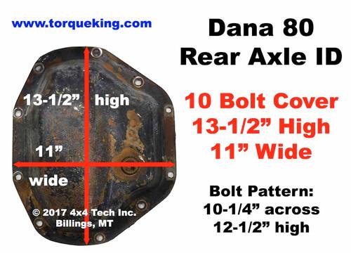 Identify Dana 80 Rear Axle Cover