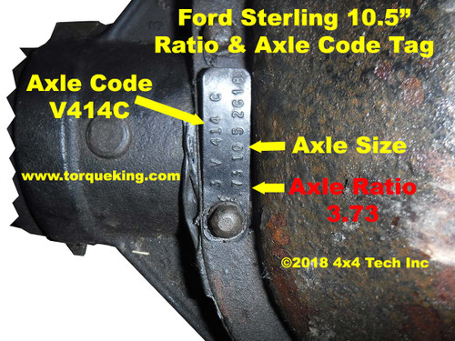 1999-2016 Ford Sterling Rear Axle Identification   Ford ...